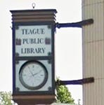 Teague Public Library Logo